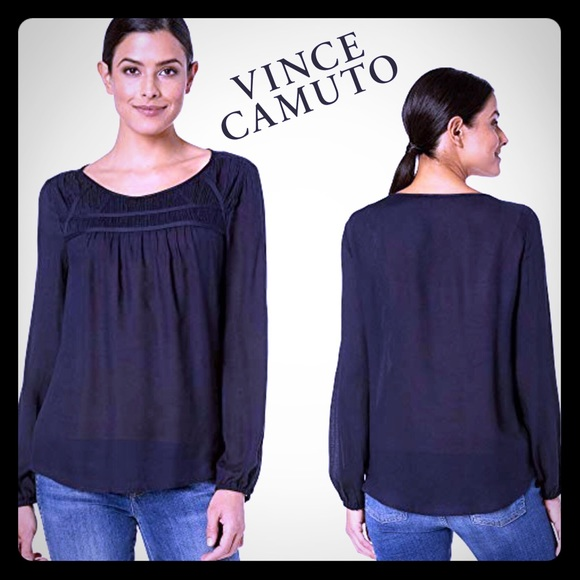 Vince Camuto Tops - Blue Top VINCE CAMUTO Sapphire Ruched Pleat NWT